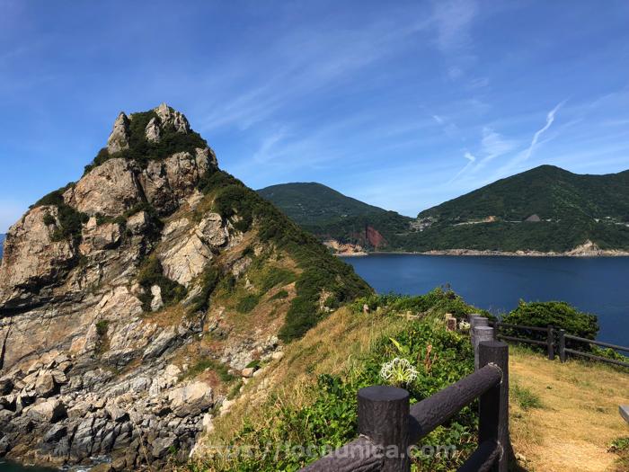 五島マルゲリータ近くの展望台からの眺め