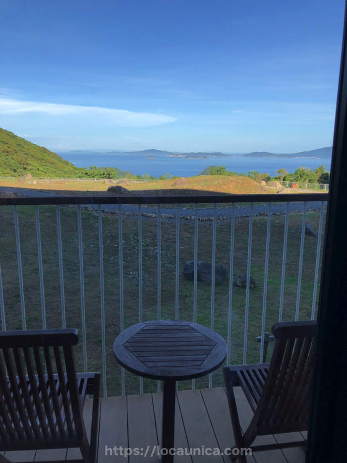 五島マルゲリータの客室からの眺め