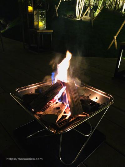 【KOMOREBI】グランピング・焚き火2