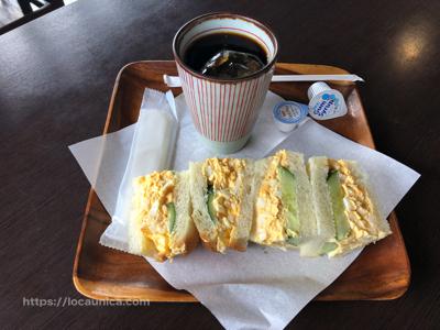 【明礬温泉 岡本屋売店 サンドイッチ