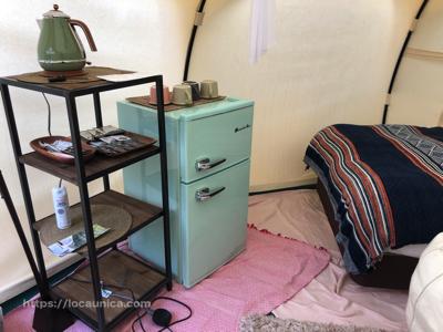 【KOMOREBI】テントの中の冷蔵庫