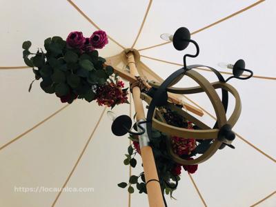 【KOMOREBI】テントの中の花