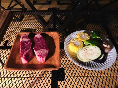 【KOMOREBI・グランピング】バーベキューのお肉と野菜