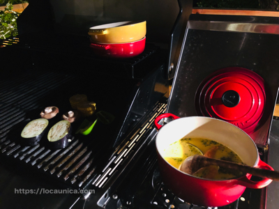 【KOMOREBI・グランピング】スープとバーベキュー