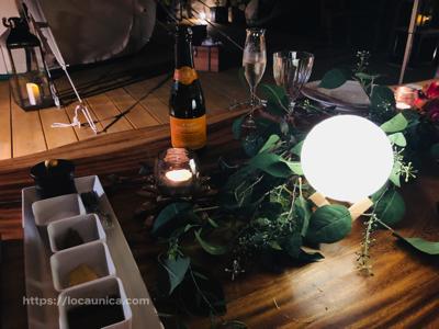 【KOMOREBI・グランピング】夜の食事1