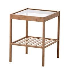 IKEA 木製ガラステーブル