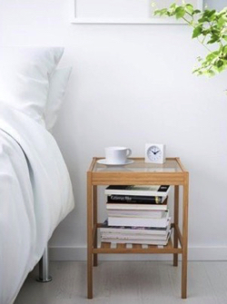 IKEA 木製ガラステーブル 参考写真
