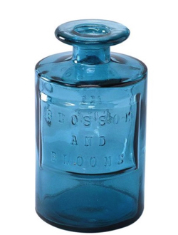 花瓶 フラワーベース (ブルー)