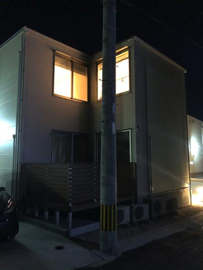 バルコニー側から撮影♪(夜)