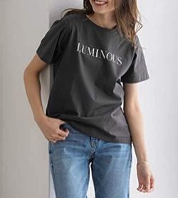 Pierrot(ピエロ) LUMINOUSシルケットロゴTシャツ
