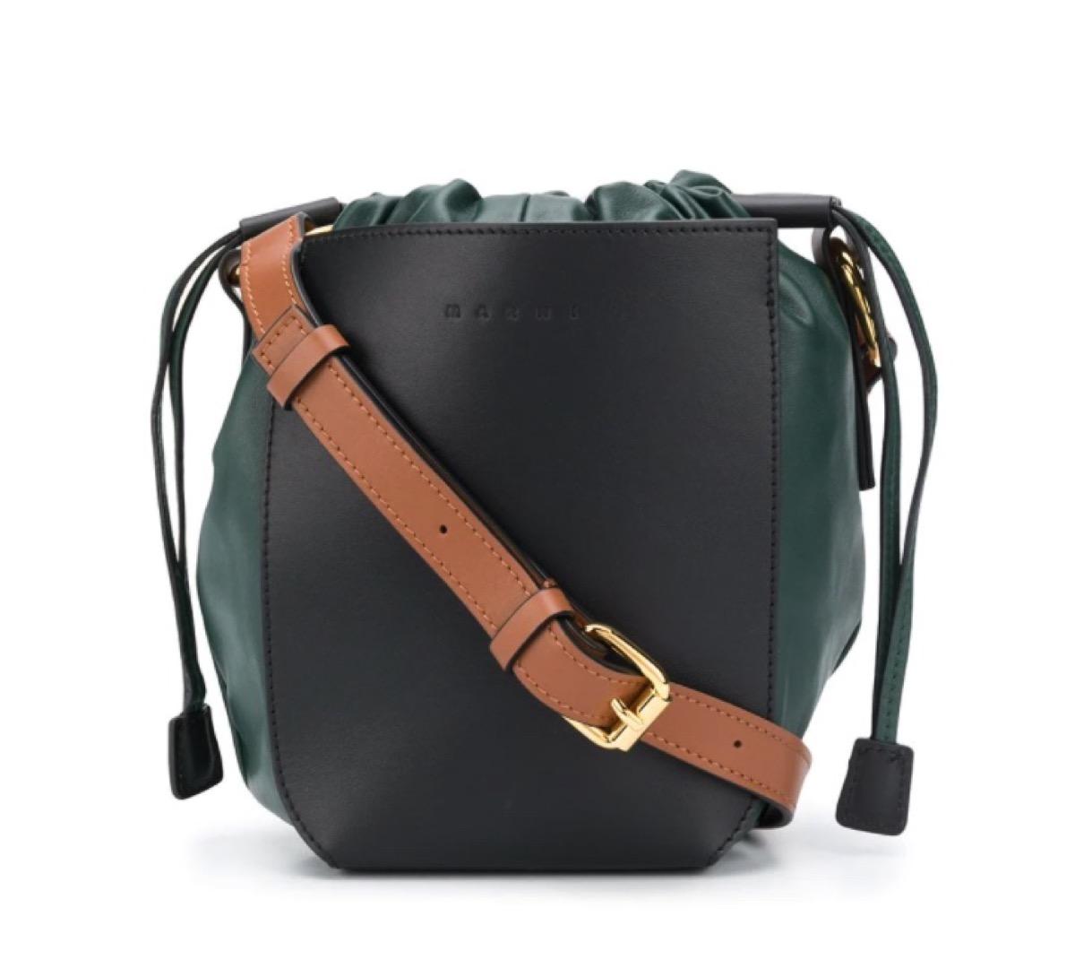 大人かわいいミニバッグ値段別まとめ♪Marni(マルニ)Gusset バケットバッグ・グリーン