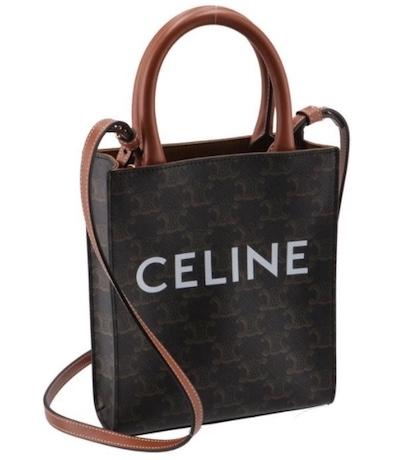 CELINE(セリーヌ)ミニ バーティカル カバ トリオンフ キャンバス【しまむら・新作】セリーヌ風スヌーピーバッグ