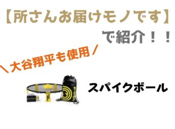 大谷翔平さん使用スパイクボール!「所さんお届けモノです」で紹介された新スポーツギア紹介♪
